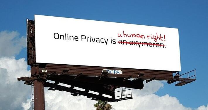 Online privacy is a human right.