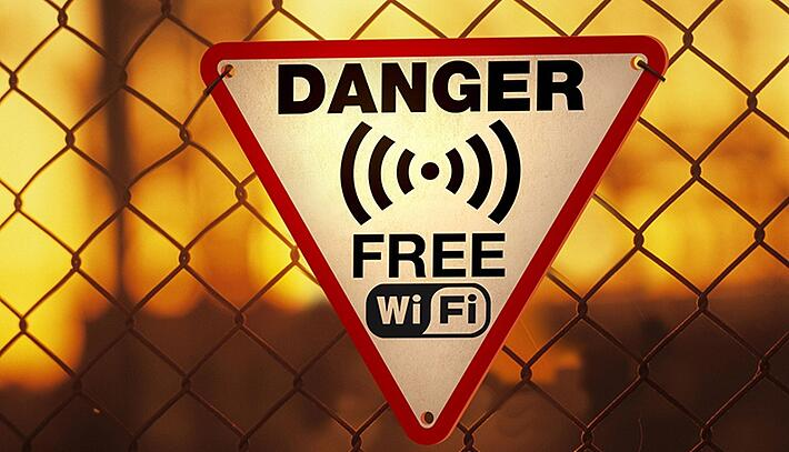 Using unsecured free Wi-Fi networks is not a very good idea.