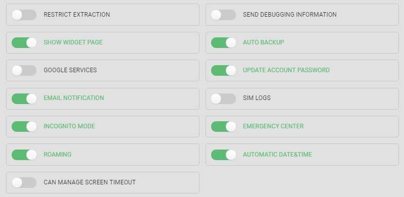 New tools to control the Emergency Center and Incognito Mode features availability on Secure Phone