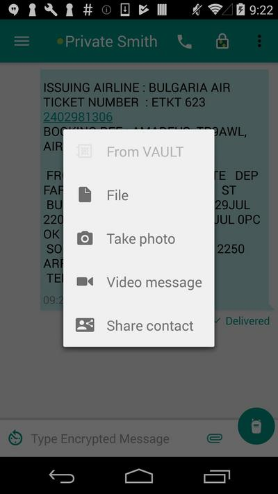 Attach from Vault