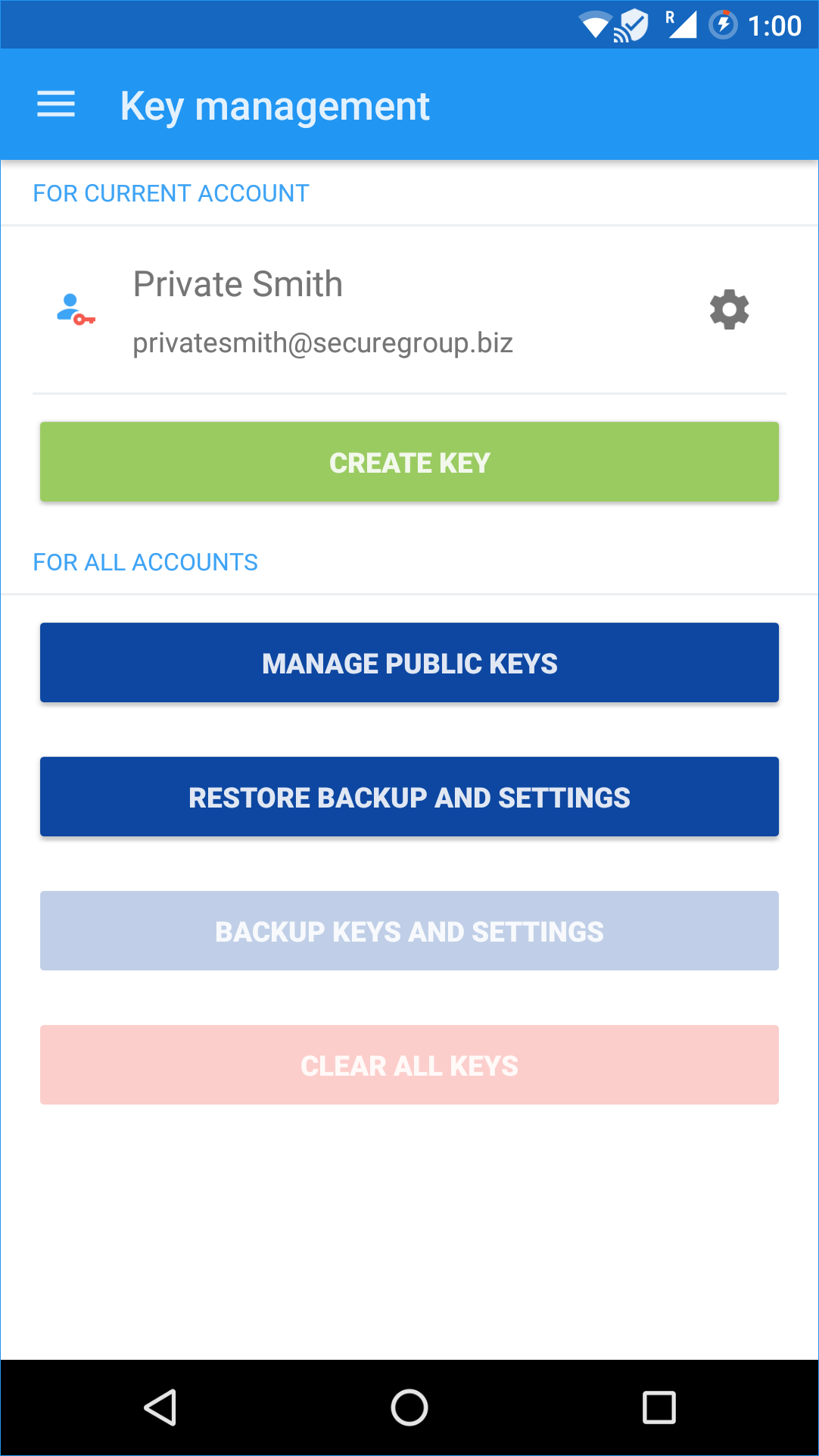 Users can now restore their private key(s) and the app's settings after a device wipe or change.