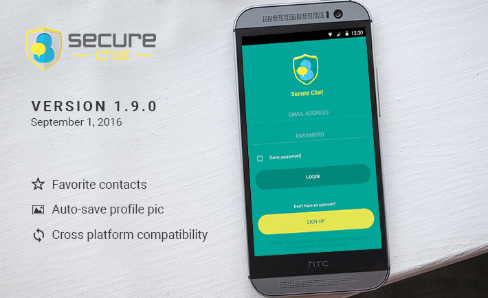 Secure Chat - Version 1.9.0