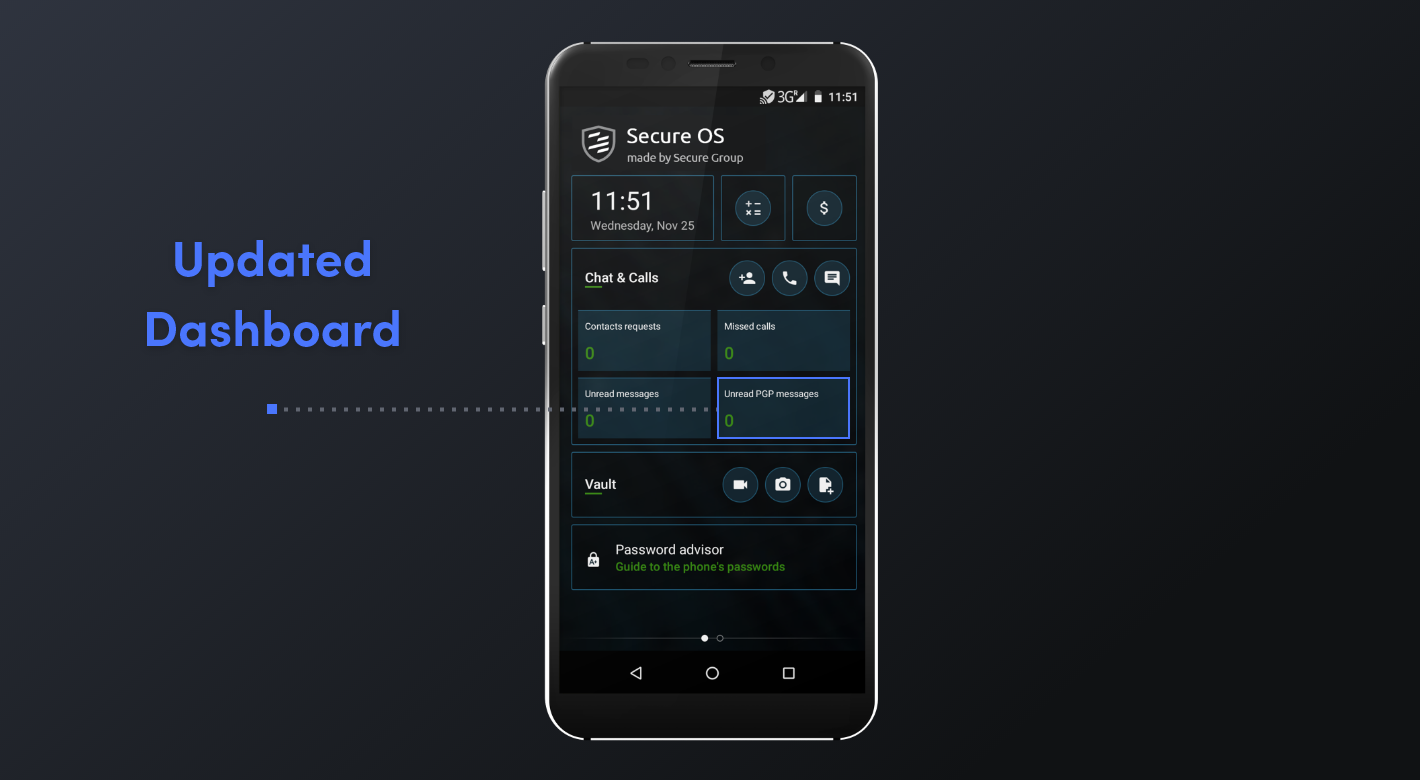 Secure Chat 3.5 - Updated Dashboard