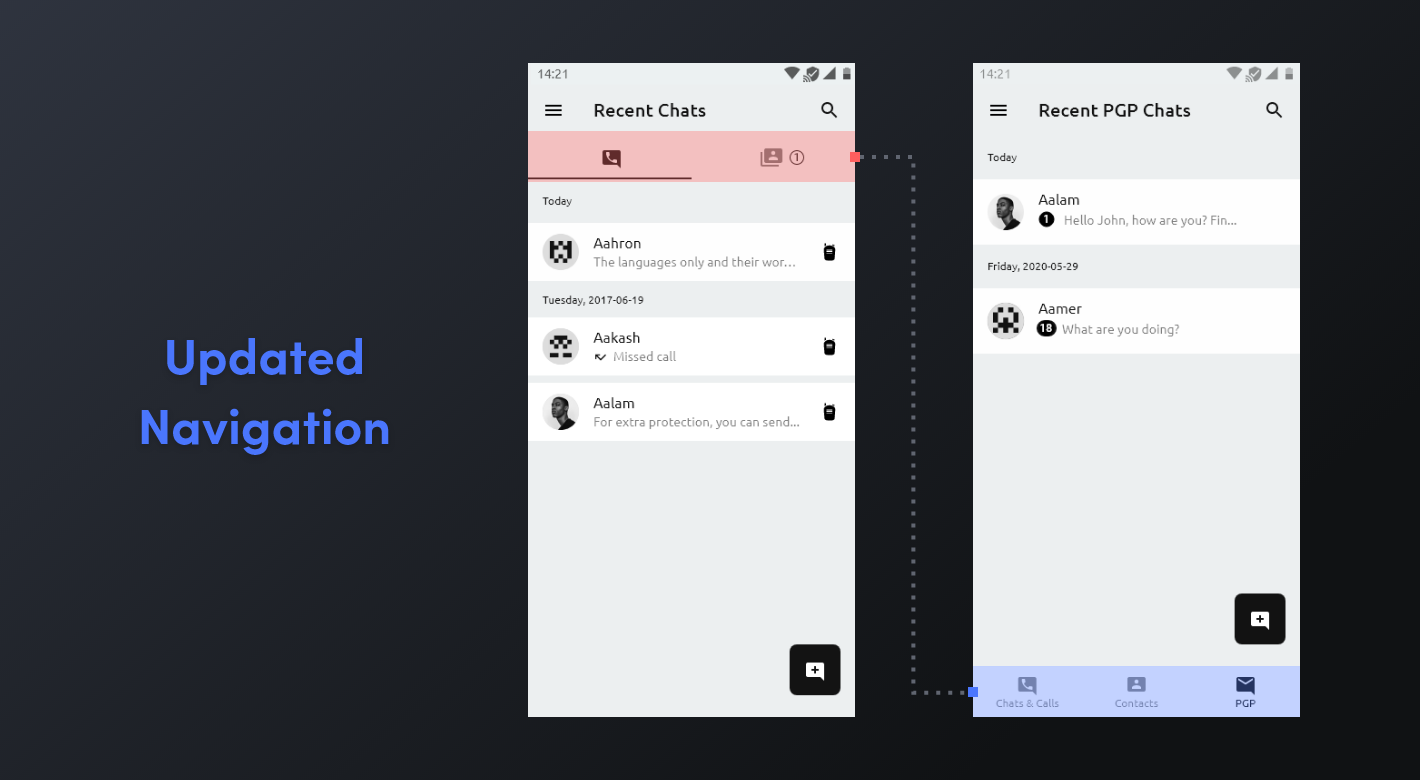 Secure Chat 3.5 - Updated Navigation