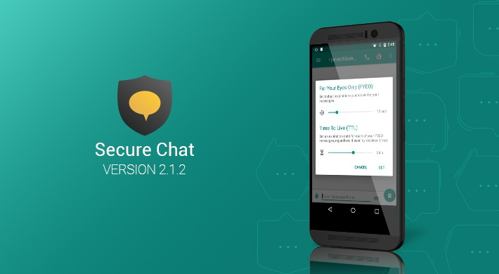 Secure Chat v2.1.2: Improved performance with no extra data usage
