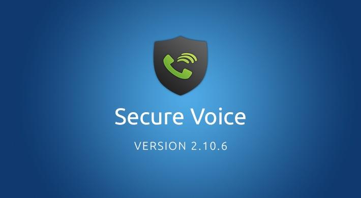 Secure Voice v2.10.6: UI improvements
