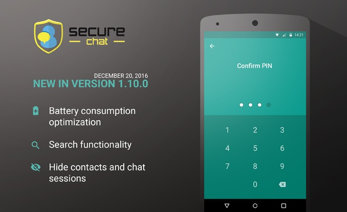 New official release: Secure Chat 1.10.0