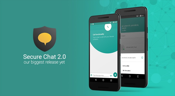 Secure Chat v2.0: one place to text and call