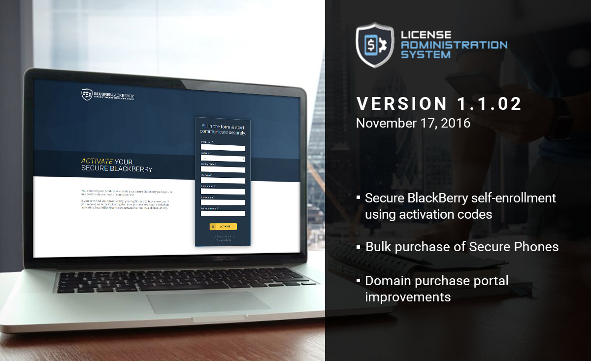 Official release of the License Administration System: LAS 1.1.02