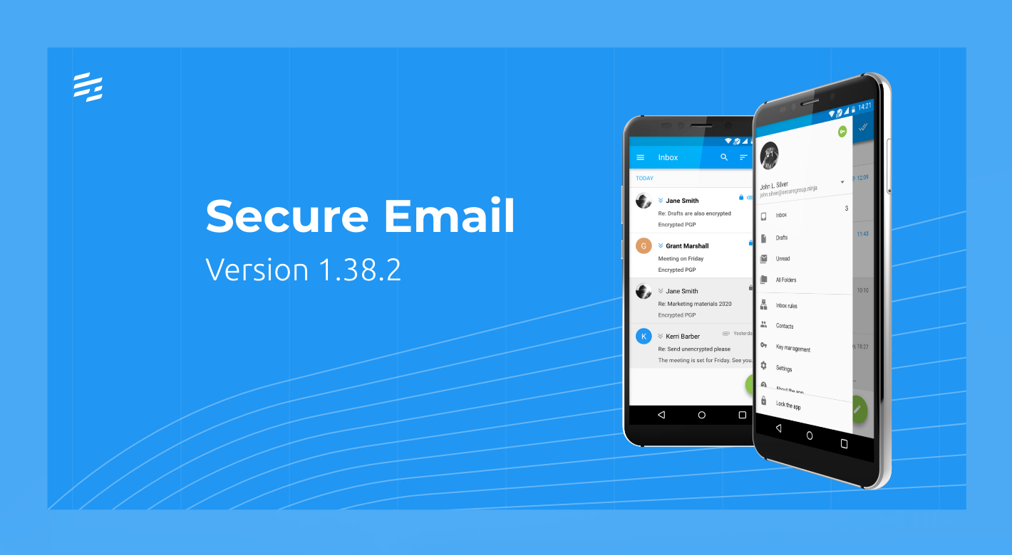 Secure Email 1.38.2: Restoring Backed Up Keys & Using Custom Contact Details