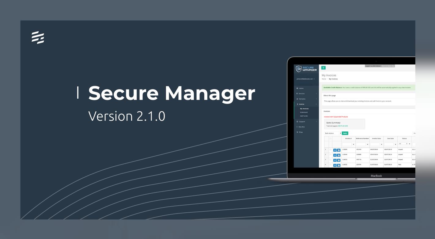 Secure Manager 2.1.0: Account Re-enrollment Permissions and Monetary Limits