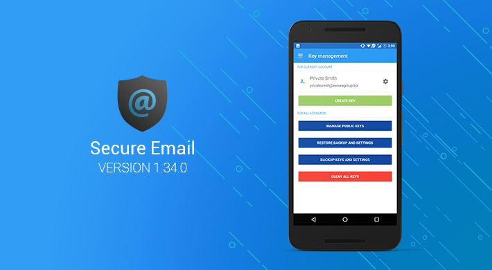 Secure Email v1.34.0: More user-friendly