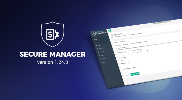 Secure Manager v 1.24.3: Backend performance optimization and tuning