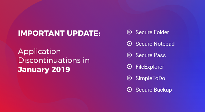 Important Update: Application Discontinuations in January 2019