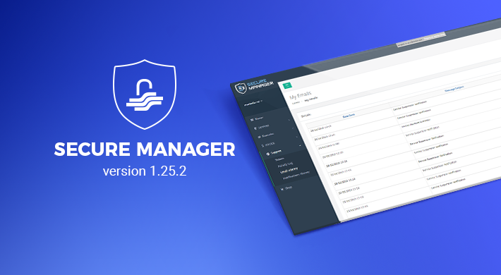 Secure Manager v 1.25.2: Enriched Seller Tools